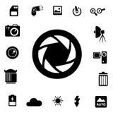 Icônes de silhouette de photographie Images libres de droits