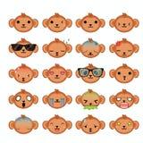 Icônes de singe réglées Photo stock