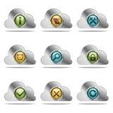 Icônes de site Web de vecteur Illustration Libre de Droits