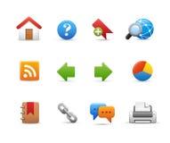 Icônes de site Web -- Série douce Photo libre de droits