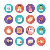 Icônes de soin et de commerce de client Image stock