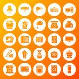 Icônes de solide de cercle de ménage Photo stock