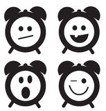 Icônes de sourire d'horloge Photographie stock