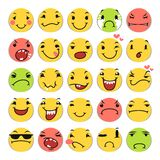 Icônes de sourire de bande dessinée réglées Photos libres de droits
