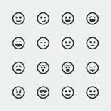 Icônes de sourire de vecteur réglées illustration stock