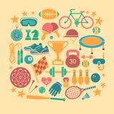 Icônes de sport Images libres de droits