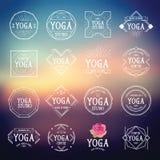 Icônes de sport de logo de yoga Images stock