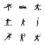 Icônes de sport de vecteur réglées Image libre de droits