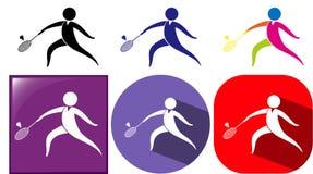 Icônes de sport pour le badminton Images libres de droits