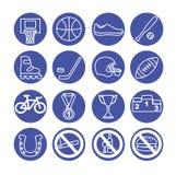 Icônes de sport réglées, illustration Équipement de sport Illustration de Vecteur