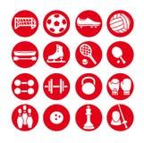 Icônes de sport réglées, illustration de vecteur Équipement de sport Illustration de Vecteur
