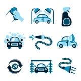 Icônes de station de lavage illustration libre de droits