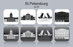 Icônes de StPetersburg illustration de vecteur