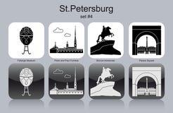 Icônes de StPetersburg illustration stock