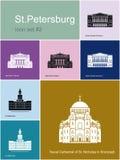 Icônes de StPetersburg illustration libre de droits