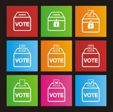 Icônes de style de métro d'élection Images stock