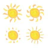 Icônes de Sun Images libres de droits
