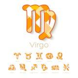 Icônes de symbole de zodiaque Photos stock