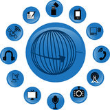 Icônes de télécommunication Image stock