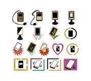 Icônes de téléphone illustration de vecteur