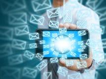 Icônes de téléphone et d'email Photo libre de droits