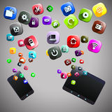 Icônes de téléphone et de comprimé Image libre de droits