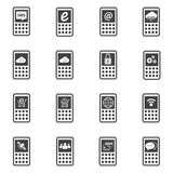 Icônes de téléphone réglées Photographie stock