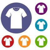 Icônes de T-shirt réglées illustration de vecteur
