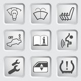 Icônes 4 de tableau de bord de voiture Photos stock