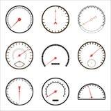 Icônes de tachymètre Illustration Stock