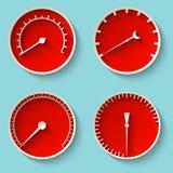 Icônes de tachymètre Illustration de Vecteur