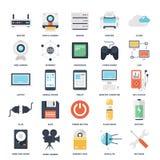 Icônes de technologie Image libre de droits