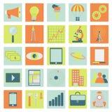 Icônes de technologie, d'affaires et de science Photographie stock libre de droits