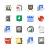 Icônes de technologie de développement et de contenu de Web Image libre de droits
