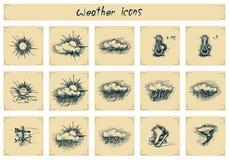 Icônes de temps de vintage Images libres de droits