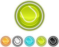 Icônes de tennis Photos libres de droits