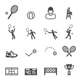 Icônes de tennis Photographie stock libre de droits