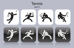 Icônes de tennis illustration libre de droits