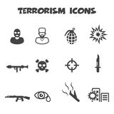 Icônes de terrorisme illustration stock