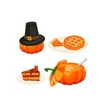 Icônes de thanksgiving réglées illustration libre de droits