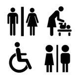 Icônes de toilettes de vecteur Images stock