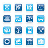 Icônes de tourisme et de voyage Image stock
