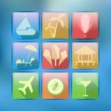 Icônes de touristes Images stock