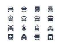 Icônes de transport illustration stock