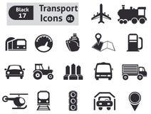 Icônes de transport Photographie stock libre de droits