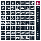 Icônes de transport Images stock