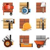 Icônes de travaux de construction de vecteur Images stock