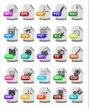 Icônes de type de fichier et d'extension illustration de vecteur