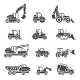 Icônes de véhicules de construction illustration libre de droits