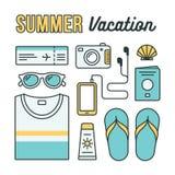 Icônes de vacances d'été Image libre de droits